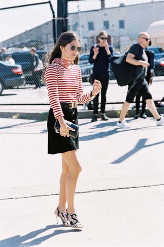 vanessa jackman blogger t-shirt top skirt jeans