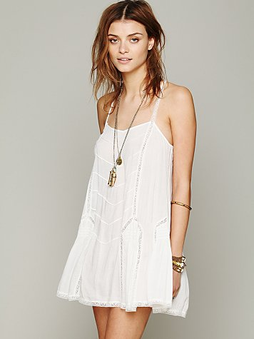 Intimately  Pieced Geo Viscose Voile Slip at Free People Clothing Boutique