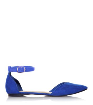 Blue Two Part Pointed Pumps