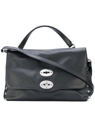 studded women leather black bag