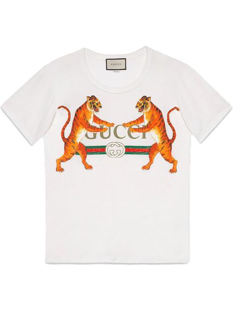 gucci t-shirt shirt t-shirt women white cotton top