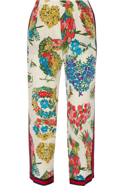 gucci pants silk