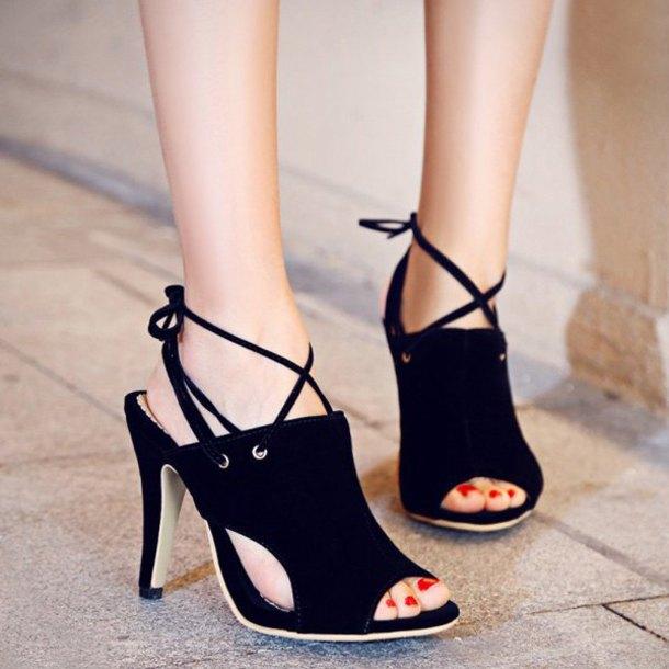 shoes black heels high heels suede sexy peep toe heels rose wholesale
