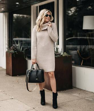 sweater dress shoes black shoes handbag black handbag dress bag