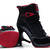 Female Black and Red Retro Jordan 11 High Heels Shoes