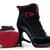 Female Black and Red Retro Jordan 11 High Heels Shoes