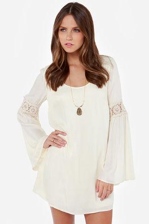 Pretty cream dress