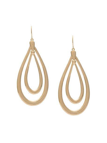 AURELIE BIDERMANN women earrings gold grey metallic jewels