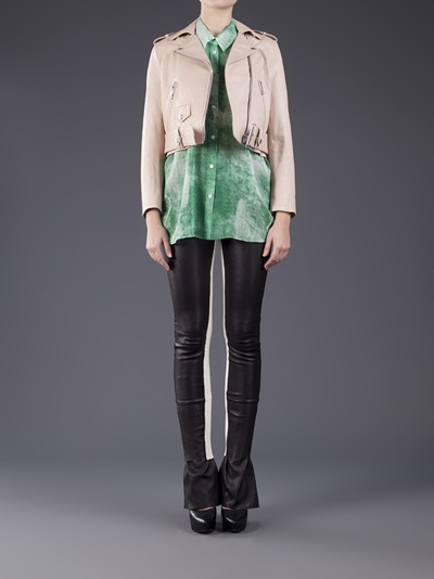 Acne Cropped Moto Jacket - Dressed - Farfetch.com