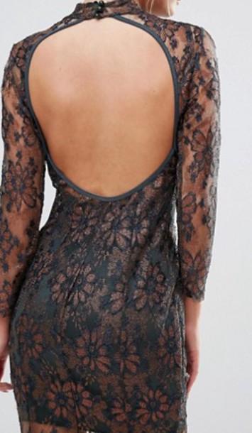 dress black dress open back dresses backless