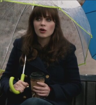 coat pea coat navy jessica day zooey deschanel new girl