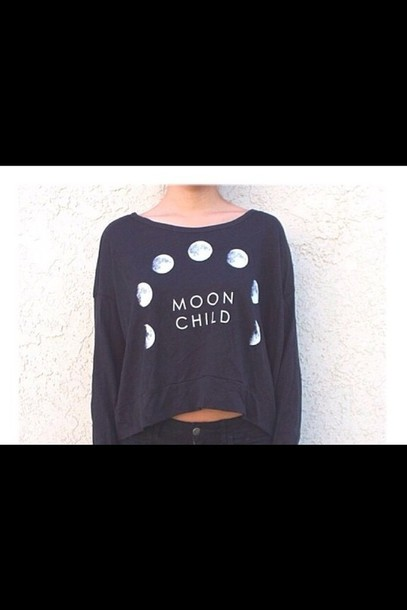top black moon child top