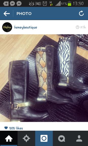 zipper boots boots snake pattern snake print
