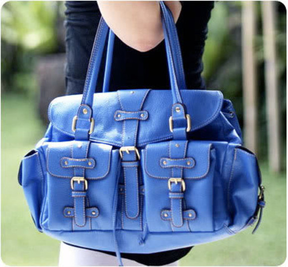 bag blue bag satchel blue satchel Tiramisu & Co