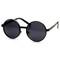 Retro steampunk inspired thick metal round sunglasses 9290