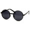 Retro steampunk inspired thick metal round sunglasses 9290