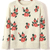 Street Straight Round Neck Long Sleeve Floral Sweater : KissChic.com