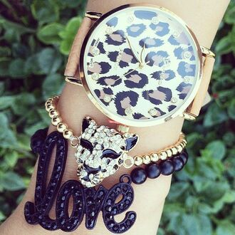jewels watch leopard face bracelet love bracelets leopard print