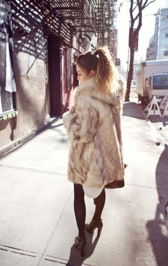coat faux fur coat winter coat fur coat