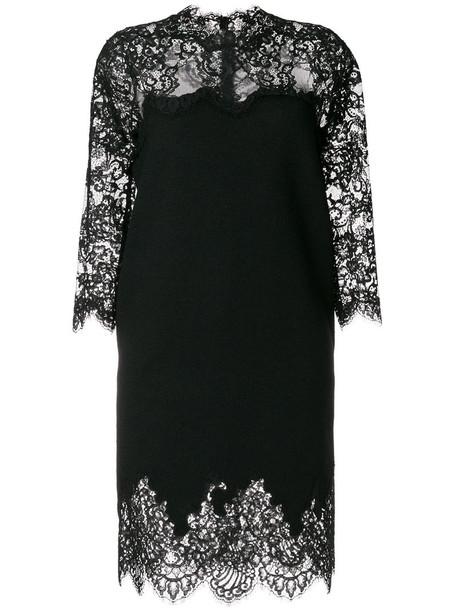 Ermanno Scervino dress women cotton black silk wool