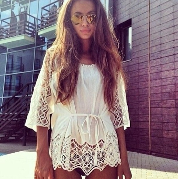 blouse white summer top white lace top summer summer top white fashion