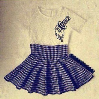 dress blue grey grey checks checkered blue dress skirt shirt