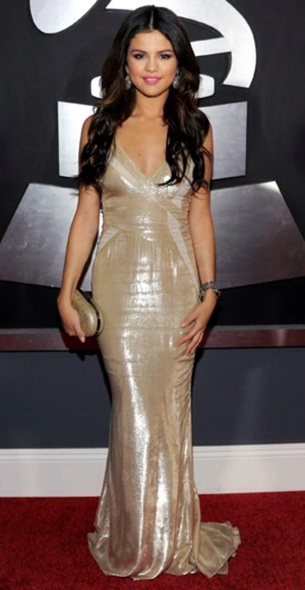 Dress: selena gomez, long prom dress, prom dress, prom dress ...