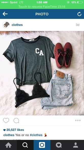 t-shirt grey ca top