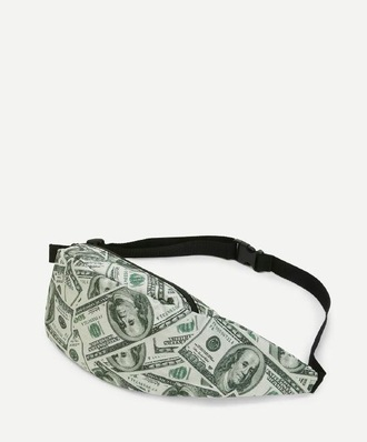 bag money green trendy cool bum bag fanny pack