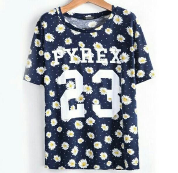 t-shirt pyrex 23 daisy top daisy