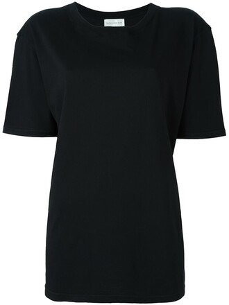 t-shirt shirt boyfriend fit black top