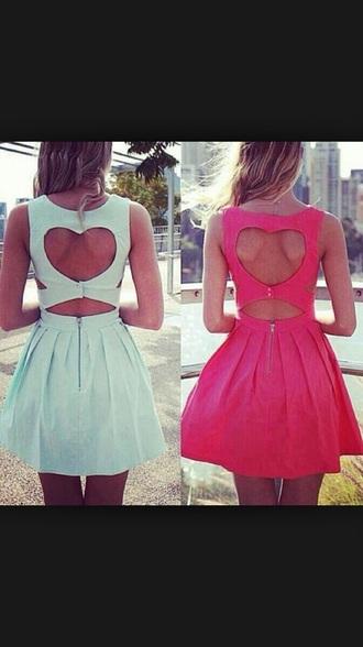 dress heart backless dress blue dress pink dress green dress prom dress