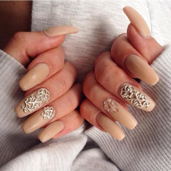 nail accessories nails nail art fashion beautiful quartz opi nail polish nail polish silver charms cozy sweater crystal quartz nail armour nail designs