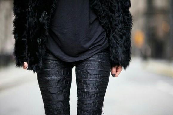 jeans fur
