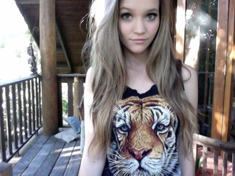 shirt tiger black shirt black tanktop t-shirt tank top button down black summer animal face print