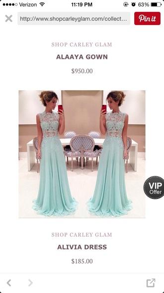 dress blue mint prom