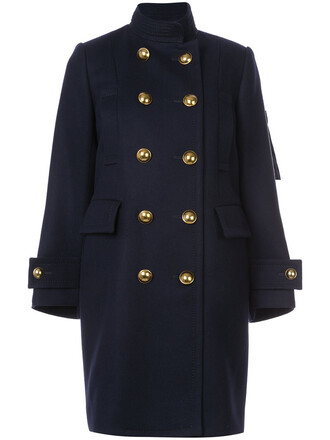 vest women blue wool jacket