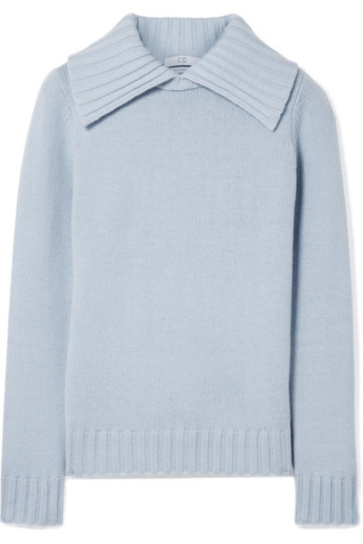 CO sweater light blue wool light blue