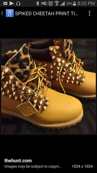 shoes leopard print timberland boots