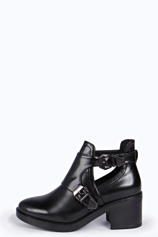 Mel Block Heel Cut Work Boot