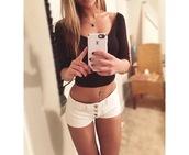 shorts,short shorts,white shorts,crop tops,ballerina top,top