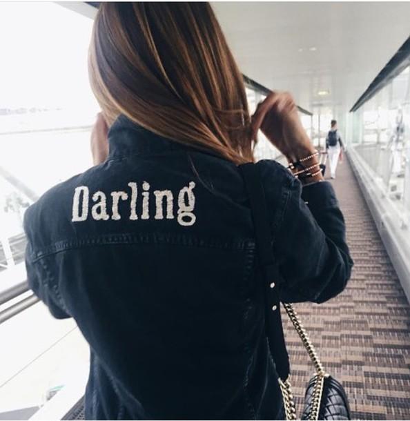Jacket Darling Denim Jacket Hipster Tumblr Tumblr Girl Tumblr