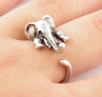 jewels ring baby elephant