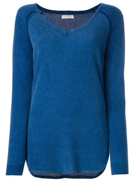 Chinti & Parker jumper women print blue sweater