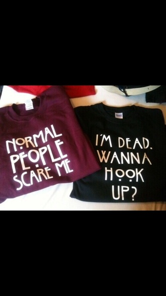 sweater american horror story shirt crewneck sweater