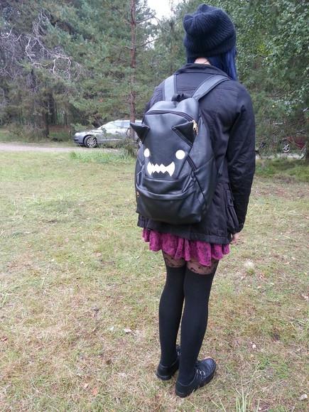 cats bag backpack bat