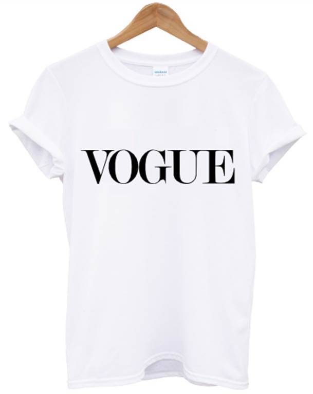 VOGUE T SHIRT WHITE CELINE CELFIE TOP UNISEX WOMEN MEN SWAG DOPE HIPSTER ALONE
