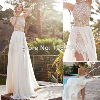 Aliexpress.com : Buy Rami Kadi Sweetheart Golden Appliques Beaded Crystal Accented White A Line Formal Evening Dresses New Fashion 2014 from Reliable dress bottom suppliers on SFBridal