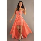 dress,rhinestones,high-low dresses,high heels,chiffon,rose wholesale