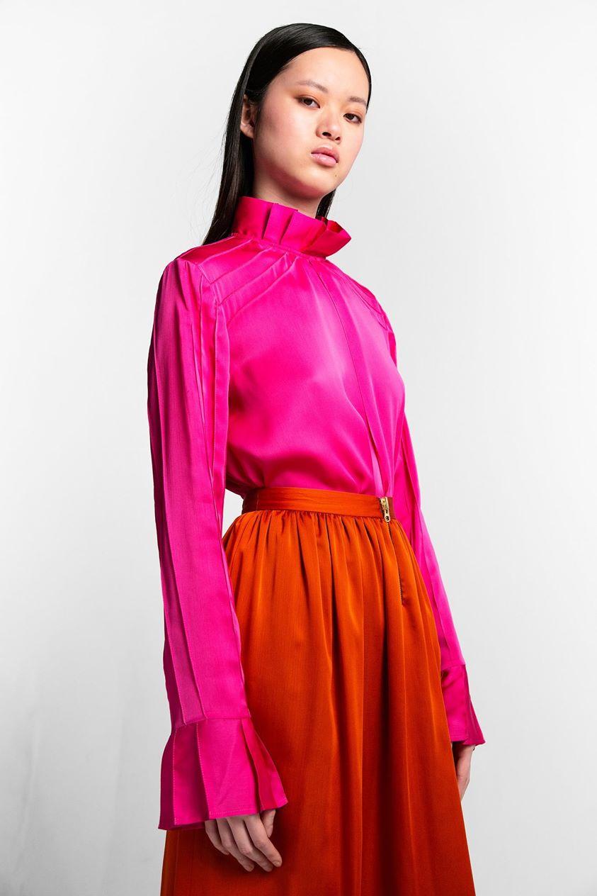 Muse shirt in super pink veil   Heimstone